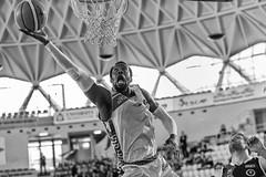 layup (ale_brando) Tags: layup basketball ball basket pallacanestro baloncesto johnbrown virtusroma seriea2 lnp regularseason game player sportaction action sport silverefexpro niksoftware nikonfx fx monochrome