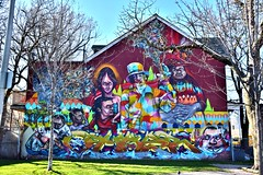 Wall Mural, Alexandra Park, 275 Bathurst Street, Toronto, ON (Snuffy) Tags: alexandrapark 275bathurststreet streetartgallery toronto ontario canada murals level1photographyforrecreation elicser troylovegates