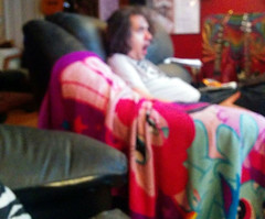 20161106 0115 - Clint - watching My Little Pony- Friendship Is Magic season finale (by Carolyn) (Rev. Xanatos Satanicos Bombasticos (ClintJCL)) Tags: 20161106 201611 2016 shocked surprised blurry blanket mylittleponyblanket watching sitting couch camerapersoncarolyn cameraphone virginia alexandria clintandcarolynshouse upstairs clint entertainment tv tvshow cartoon cartoons cartoonshow mylittleponyfriendshipismagic mylittlepony