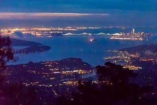 Pre-dawn San Francisco from Mt Tam
