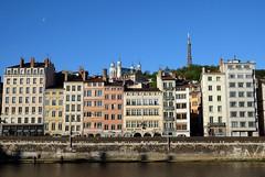 Lyon (Laetitia de Lyon) Tags: fujifilmxt10 lyon ville city façade fourvière tourmétallique saône river fleuve
