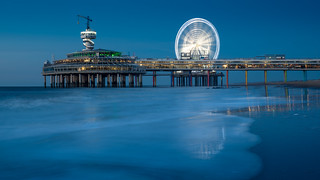Long exposure of the pier of Scheveningen during Blue hour.