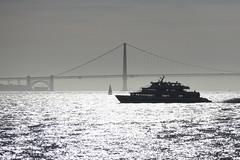 M.V. Mendocino (fksr) Tags: mvmendocino ferryboat larkspurlanding sanfrancisco goldengatebridge sanfranciscobay reflections silhouette california