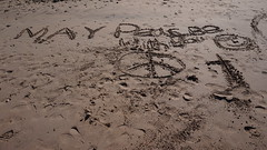 May Peace be With You (Jamo Spingal (J McGonigal)) Tags: sand beach ireland ulster peace message