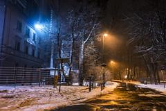 night (liezexmusic) Tags: gliwice night winter walk with friend longexposure photography city time change goodbye memories urban nx1000 flickr