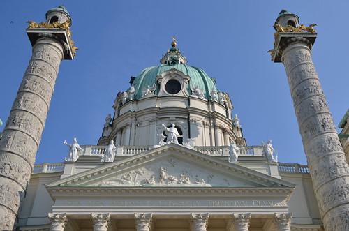 Vienne :  Église Saint-Charles-Borromée (Karlskirche)