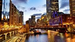 Weekend landing (CzechInChicago) Tags: chitectureex chitecture chicago bridge skyline citi citiscape
