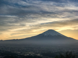 2017 Spring Fuji sunset scenery
