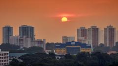 The Peek (draken413o) Tags: singapore marsiling estates neighbourhood sunset sun telephoto urban places scenes architecture skyline residential canon 5dmk4