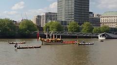 Gloriana (sarflondondunc) Tags: gloriana royalbarge riverthames vauxhall millbank london