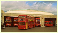 Hackney bus garage (kingsway john) Tags: london transport bus garage hackney h wellstreet kingsway models card kit 176 scale oogauge modelbus dms rm efe mba miniature