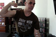 Medical Lab, Blood Test Day. (Jonathan Clarkson) Tags: photobooth bloodtests blooddraws muscles muscle biceps flexingbiceps strongarms arms armfetish needles injections pokes bandaids
