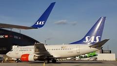 LN-RRO Scandinavian Airlines Boeing 737-683 (geoffieb) Tags: londonheathrowairportlhr lhr egll boeing boeing737ng boeing737600 lnrro scandinavian sk sas 737683