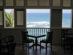 Table with a view, Atlantis Hotel, Bathsheba, Barbados (Paul McClure DC) Tags: bathsheba barbados westindies stjoseph caribbean apr2017 scenery atlanticocean hotel architecture