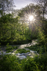 Relfe Spring (Notley) Tags: httpwwwnotleyhawkinscom notleyhawkinsphotography notley notleyhawkins 10thavenue spring relfespring sun sunburst phelpscountymissouri ozarks missouri forest water creek 2017 april