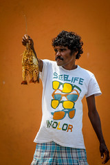 See Life In Color (Nazly) Tags: life sea fish man color beach lobster srilanka seller colombo wellawatte
