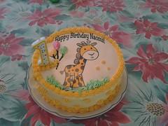 Giraffe cake by Brenda L, Santa Cruz CA, www.birthdaycakes4free.com