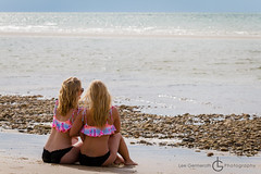 356/365 (Lee G Photo) Tags: ocean girls beach beautiful bay women capecod blondes matching 365 bathingsuits 356