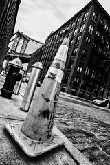 (Stevelb123) Tags: newyorkcity longexposure nightphotography bridge newyork brooklyn manhattan dumbo firehydrant manhattanbridge trafficcone brooklynbridgepark