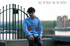 Pull me back to the depths. (Ardinnnn :)) Tags: boy portrait guy london photoshop self pose 50mm photo big hands nikon arms ben bokeh manipulation southbank teen 18 d3100