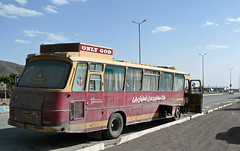Only god will save you on this bus. (praccus) Tags: buses iran persia iranianbuses
