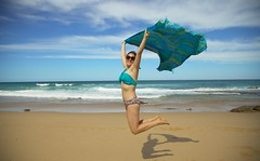 Flying Tegan (TriView) Tags: sun colour beach fun happy freedom flying spirit free