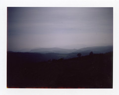 Over the Hill with Jigme Landscape polaroid (PolarSangye) Tags: polaroid fujifilm landcamera instantfilm peelapart