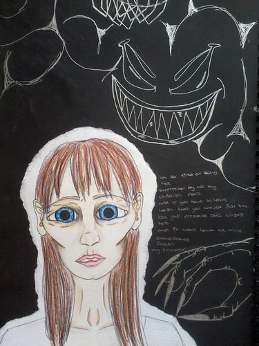 sketch book pages on dreams and nightmares