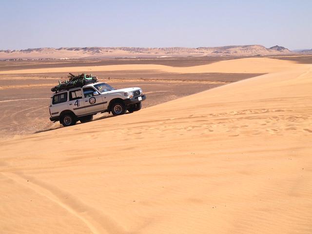 <p>砂の丘はこんな傾斜。</p>