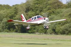 Piper Cherokee G-AVBT (John Ambler) Tags: light tower grass airport control aircraft 05 isleofwight 23 cherokee piper runway sandown iow iw gavbt