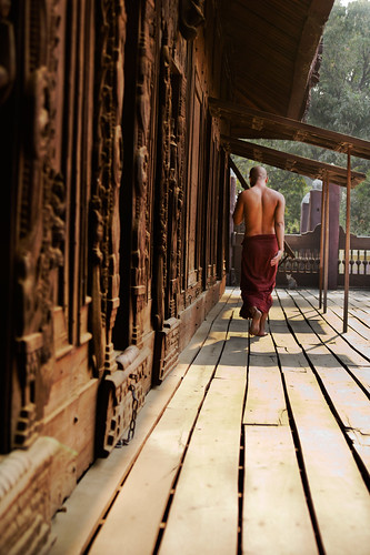 walking monk