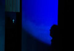 Prayer..... (tolangli) Tags: blue shadow portrait people man norway prayer thoughtful visdom