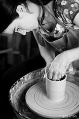 Trabajo en torno alfarero (Mara Saudo Cermica) Tags: wheel ceramic potter clay pottery cermica alfarero torno alfarera arcilla ceramista