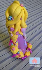 Topo de bolo Rapunzel (Casa de Boneca por Jujujep) Tags: baby an