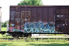 Quiter (quiet-silence) Tags: railroad art train graffiti ups wc railcar boxcar graff freight wisconsincentral fr8 quiter wc21001