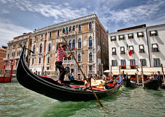 Venice (Villi.Ingi) Tags: venice italy boat italia gondola venezia grandcanal gondolier feneyjar
