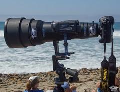 Nikon D4   600mm F4 Nikkor lens with Video Camera for Shooting Stills & Video @ Same Time! (45SURF Hero's Odyssey Mythology Landscapes & Godde) Tags: world camera lens ed for video