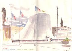 130728 le Volcan (Vincent Desplanche) Tags: urban france watercolor sketch aquarelle croquis lehavre