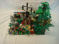 The Lamp Post of Traveler's Crossing (jgg3210) Tags: trees kite signs haven west castle lamp forest picnic crossing post lego hill trails meeting east knights northern eveline argus isolde thorne dain magus weald delegation babblebrook willowstone erdrick stillmoss