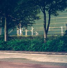 Untitled (Faris) Tags: street urban green 120 6x6 mamiya tlr amsterdam japan night train mediumformat square lomo tripod railway cast squareformat agfa hid portra 160 80mm c330 duoscan c41athome