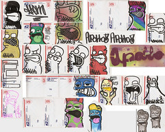 Pack from Apollo part 2 (OKARIEN) Tags: street stencils art illustration graffiti paint hand dumb tag stickers spray labels usps apollo markers dingo 228 sharpies copic trades slaps molotow breadbox collabs decocolor okarien