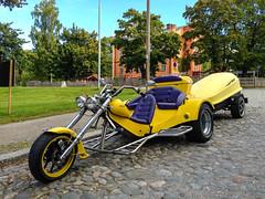 Tricycle (TimoOK) Tags: street bike yellow finland tricycle motorbike motorcycle vaasa katu moottoripyörä keltainen kolmipyörä vaasaostrobothniafinland
