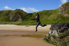 DSC01303 (steve_whitmarsh) Tags: sea beach water bay scotland jump aberdeenshire dynamic steve hackley