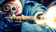 EFF Arcen 2013 - Steampunk (Lennart Tange) Tags: gun scope rifle fair elf fantasy weapon sniper eff firing arcen steampunk objective 2013 elfia