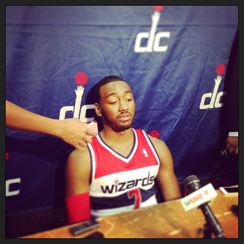 Previously, John Wall B - #Wizards Media Day