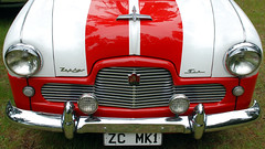 1953 Ford Zephyr Mark I (geoftheref) Tags: new christchurch classic car club vintage island plate canterbury front retro grill zealand swap vehicle bonnet aotearoa meet mcleans 2013 geoftheref