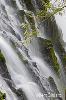 Hundreds of mini falls cascade over 130 feet