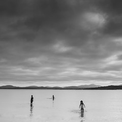 They came from the deep. (Mr Bultitude) Tags: ireland sea white black mountains beach kids swimming fun bay explore paddling donegal tramore downings explored