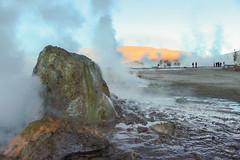 Just chitchatting among geysers (Rayssa Mrtns) Tags: chile people san pedro atacama geyser tatio