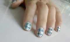 Xadrez (Aline Simões) Tags: blue black beautiful fashion silver nailart xadrez unhadecorada